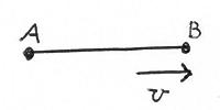 Rod with velocity v