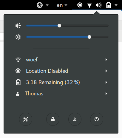 Hibernate Status Menu Icon
