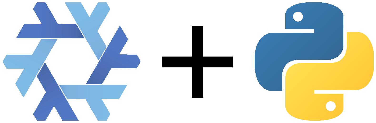 Nix and Python logos